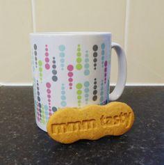 Retro Raindrops  Mug & Coaster Gift Set by JLWIllustration on Etsy, £11.00