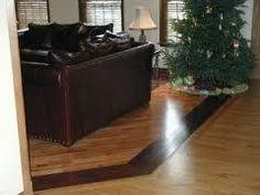 Hardwood to Hardwood transtion option - Birch with a Brazilian Cherry Hardwood… Living Room Flooring, Bedroom Flooring, Kitchen Flooring, Engineered Hardwood Flooring, Timber Flooring, Hardwood Floors, Flooring Ideas, Prefab Barns, Law Office Decor