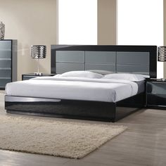 Venice Modern Bed by Chintaly Imports Bedroom Furniture Design, Furniture, Bed Design Modern, Bedroom Sets, Bed Furniture Design, Black Bedroom Furniture, Bedroom Design, Bedroom Bed Design, Furniture Design
