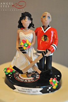 What Blackhawks Wedding Cake Would Be Complete Without A Customized Topper