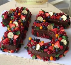 Most up-to-date Photographs fruit cake number Thoughts - yummy cake recipes Cupcake Cakes, Cupcakes, Number Cakes, Number Birthday Cakes, Fruit Birthday, Cake Birthday, Cake Blog, Pretty Cakes, Creative Cakes