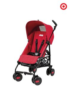 A perfect baby registry addition, the compact Peg Perego Pliko Mini Umbrella Stroller provides limitless practicality. This stylish, go-anywhere stroller features one-hand folding, reclining backrest, 5-point safety harness, easy-push wheels and adjustable handles for a custom fit for you. Stroll on.