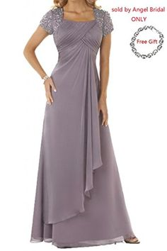 Angel Bride Column Floor-Length Chiffon Evening Prom Gowns(Free Bracelet)- US Size 18W Angel Bride http://www.amazon.com/dp/B00PRXDI7C/ref=cm_sw_r_pi_dp_TS66ub0HHEKPD