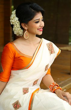 Kavya Madhavans online Shopping Website Laksyah is an exclusive store for Designer,Bridal,Cotton &Kerala Sarees. Lakshya is especially concentrated in festival and wedding Sarees Kerala Saree Blouse Designs, Saree Blouse Patterns, Kerala Traditional Saree, Set Saree, Kerla Saree, Kasavu Saree, Saree Poses, Saree Shopping, Online Shopping Sarees