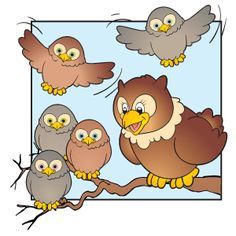 """""""Five Baby Owls"""" Fall Rhyme"""