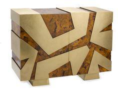 Cabinet, SIGNAPORE, tab37 cracking and brass matt.