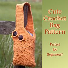Cute Crochet Bag Pattern for Beginners #CrochetCrafts, #DiyBags #Crocheting http://www.ilovetocraft.com/crocheting/cute-crochet-bag-pattern-for-beginners.shtml