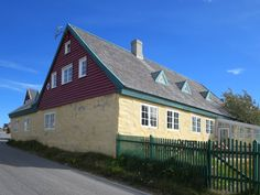 The house of Hans Egede founder of Nuuk, Greenland, is the oldest building in the city. Nuuk Greenland, Greenland Travel, Old Building, Atlantic Ocean, Archipelago, Continents, North America, Places To Go, National Parks