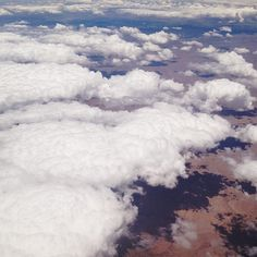 Airplane view #clouds