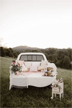 Vintage Inspired Knoxville Vow Renewal by Erin Morrison Photography Wedding Vows, Dream Wedding, Wedding Rustic, Wedding Car Deco, Wedding Anniversary Photos, Wedding Ceremony Signs, Wedding Proposals, Wedding Dresses, Classic Trucks