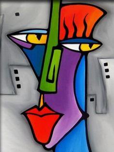 Modern Art a Conspiracy Theory – Buy Abstract Art Right Cardboard Sculpture, Sculpture Art, Pop Art Face, Tableau Pop Art, Modern Art Paintings, Contemporary Abstract Art, Art Moderne, Stone Art, African Art