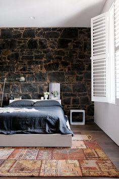 modern rustic style bedroom