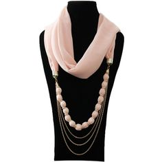scarf jewelry | 2013 Lady Charm Special Bead Necklace Chiffon Scarf Jewelry