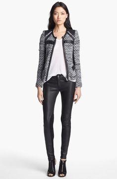 IRO Contrast Panel Jacket Veste Tricotée, Blazer, Mode De Blazer, Vêtements  D  77da51d72f8