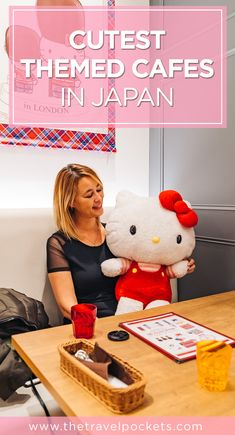 Japan is full of cute cafes and especially adorable themed cafes. They have everything from cat cafes to Totoro cafes to hedgehog cafes! #Japan #Tokyo #HelloKitty #themedcafe