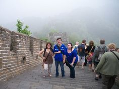 Dominican University students Pam Wolf, Dylan Franklin and Cathy Jaskey on the Great Wall of China.