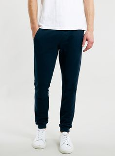 Navy Pique Textured Fabric Skinny Joggers   Topman - $60