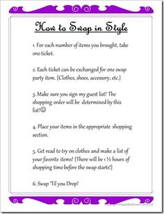 How to host a clothing Swap Party!