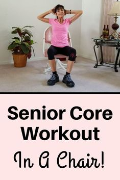 Seated Core Exercises For Seniors - Fitness With Cindy