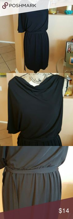 Jessica Simpson Dress Sexy black dress. Has one arm that drapes down. Dips down in the back. Lined. Worn once. Jessica Simpson Dresses