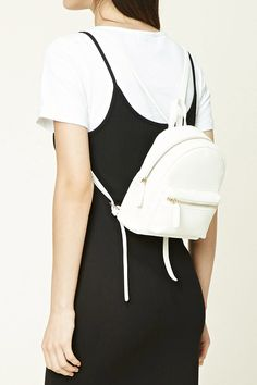 Faux Leather Mini Backpack- White or Black
