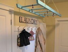 Hanging Ladder Laundry Rack