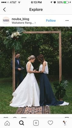 3 Things You Can Do To A Woman Lesbian Wedding - the contrast between the white and the black dress, and that arbor Lgbt Wedding, Wedding Attire, Wedding Dresses, Lesbian Wedding Photos, Lesbian Wedding Photography, Rainbow Wedding, Lesbian Love, Wedding Bells, Wedding Styles