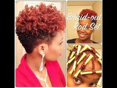 WOW amazing cut - Braid-Out Rod Set on Tapered Natural Hair - YouTube