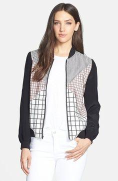 Trina Turk 'Adah' Silk Bomber Jacket available at #Nordstrom