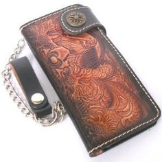BIKER / TRUCKER CLUTCH WALLET WITH CHAIN MADE FROM GENUINE COW HIDE by amazingthailand. $24.99. BEAUTIFUL BIKER AND TRUCKER CLUTCH WALLET WITH CHAIN.  Product from Thailand