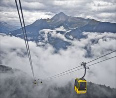 Riding 'Through the Clouds' on the Penken cable car high above Mayrhofen, Tyrol, Austria;  photo by Dave Hanmer, via Flickr
