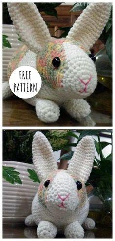 Mesmerizing Crochet an Amigurumi Rabbit Ideas. Lovely Crochet an Amigurumi Rabbit Ideas. Crochet Rabbit Free Pattern, Easter Crochet Patterns, Crochet Amigurumi Free Patterns, Cute Crochet, Knitting Patterns Free, Crochet Toys, Knitting Toys, Free Knitting, Crochet Ideas