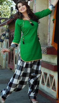 Bottle #green Cotton #Salwar #Kameez for #Eid | @ $66.72