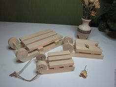 Купить заготовка для декупажа саночки - бежевый, санки, санки деревянные…