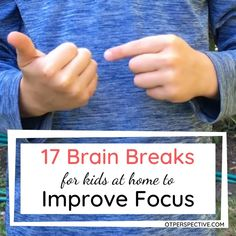 Get 17 quick and fun brain breaks for your kids at home to help them not only focus better but to process what they have learned! Learn calming and alerting brain breaks so that you meet your kiddo's needs! Activities for kids at home. Brain Breaks. Brain breaks for kids. Brain Breaks for virtual learning. Brain Breaks for social social distancing. Improve focus. Improve focus kids. How to improve focus in kids. Activities to improve focus. #activitiesforkidsathome #brainbreaksforkidsathome Brain Gym For Kids, Fun Brain, Yoga For Kids, Exercise For Kids, Kids Brain Games, Physical Activities For Kids, Occupational Therapy Activities, Kids Learning Activities, Speech Activities