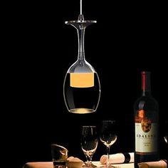 3W LED Cup Kroonluchter Light Wijnglas hanglamp voor Living Room Bar Saloon Dining Room - EUR € 25.78
