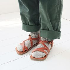 when I return home after a trip, and I see people wearing wool socks with sandals, (Birkenstocks usually) I know I am home among my people once more.