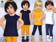 The Sims Resource - TSR Lace Tunic and Leggings by minicart - Sims 3 Downloads CC Caboodle