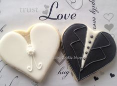 Items similar to Bride and Groom Cookies (One Dozen) - Bridal Shower Favors - Wedding Favors - Wedding cookies - Engagement party favors on Etsy Engagement Cookies, Engagement Party Favors, Valentine Cookies, Easter Cookies, Sugar Cookies, Birthday Cookies, Christmas Cookies, Cut Out Cookies, Cute Cookies