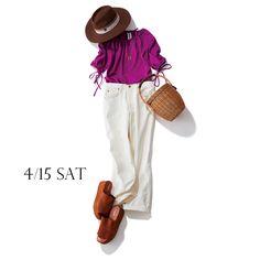 隅田川クルージングには白デニム×大人リッチ配色でぷちバカンス気分Marisol ONLINE|女っぷり上々!40代をもっとキレイに。