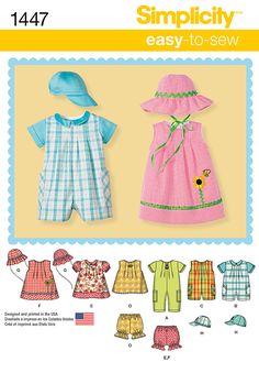 Simplicity Creative Group - Babies' Romper, Dress, Top, Panties & Hats 1447
