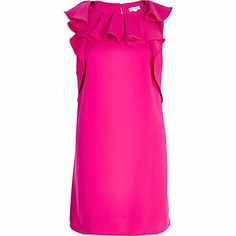 Pink ruffle shift dress - shift dresses - dresses - women via @InStyle Magazine
