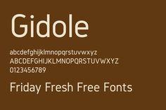 Friday Fresh Free Fonts - Gidole, Mexe, Wood Print   Abduzeedo Design Inspiration