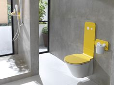 Colourful #bathrooms with #MOOD collection. In passion red, sunny yellow or in navy blue