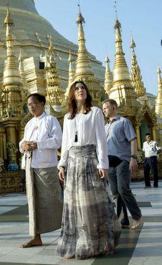 Crown Princess Mary in Myanmar