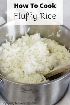 White Rice Recipes, Easy Rice Recipes, Lunch Recipes, Cooking Recipes, Dinner Recipes, Cooking Hacks, Dinner Ideas, Healthy Recipes, Easy Meals For Kids
