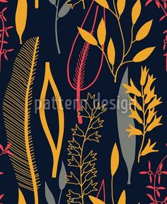 Scandinavian style Leaves Pattern, designed by Irina Arnautu    High-quality Vector Pattern from patterndesigns.com