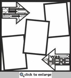 General Travel: I Was Here 12 x 12 Overlay Laser Die Cut