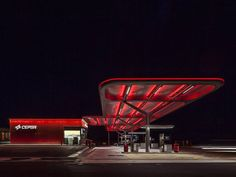 CEPSA Service Station by Saffron Brand Consultants MalkaPortús arquitectos From the architect: Cepsa is Spains fourth largest industrial group operating for over 80 years. In recent year it has become a major player in the global energy market. Yet it is their petrol stations that are the crucial touch-point that connects the brand with society. The forecourt canopy was transformed using a high tech ETFE material that is self-cleaning lightweight and recyclable. Its structure is assembled…