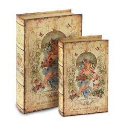 Set 2 Cajas Libro Angel 27 cm 42237SG